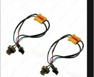 2x 7443 Load Resistor Fix Hyper Flash For Switchback LED Turn Signal Light NEW