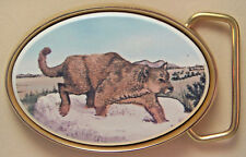Belt Buckle Barlow Scrimshaw Reproduction Mountain Lion Traditional 590635c NEW