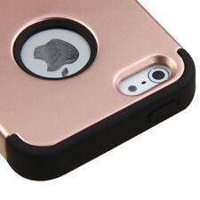 For Apple iPhone 5S SE - ROSE GOLD Hybrid Shockproof Hard&Soft Rugged Cover Case