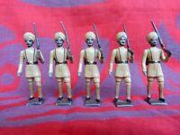CBG MIGNOT - 5 soldats de plomb de l'armée des Indes - Indian Army