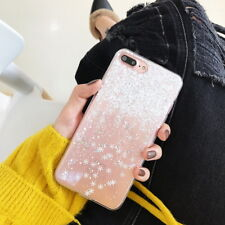For iPhone X 8 6s 6 7 Plus Slim Snow Christmas Gift Clear Rubber Soft Case Cover