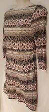 Size 18 PHASE EIGHT long sleeve lace sheath dress multi-coloured brown pink