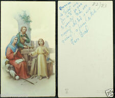 OLD BLESSED SACRED FAMILY HOLY CARD ANDACHTSBILD SANTINI  SEE MY EBAY SHOP C1003