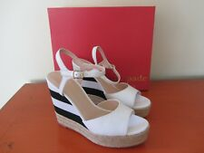 Kate Spade New York - Deanne Wedges - Size 8M - White Vacchetta NEW IN BOX