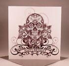 SKULL AND ROSES Birthday Card - Biker Tattoo Rocker Goth Punk