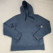 Marmot Hooded Sweatshirt Women's Small Blue Quilted Cowl Neck Kangaroo Pocket