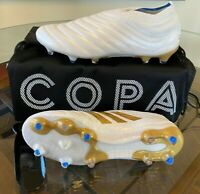 $275 Adidas Copa 19+ FG White Gold Blue Men's Soccer Cleats Men's Size 11 F35512