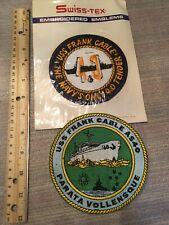 2 Vintage USS Frank Cable Navy Patches