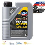 Liqui Moly SAE 5w40 Top Tec 4100 Fully Synthetic Engine Oil ACEA C3 9511 1 L