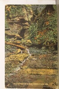 Indiana IN French Lick Water Fall Gorge Postcard Old Vintage Card View Standard