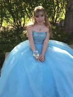 Sherri Hill Light Blue Cinderella Pageant Prom Ball Dress Gown Size 00 REG$800
