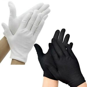100% Cotton Moisturising Gloves For Dry Hands or Eczema - Soft, Light & Washable