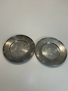 Vintage Reed & Barton EPNS 2 Silver-plated Plates Marked 4762S