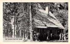 Idaho Falls Treasure Mt Camp Admin Lodge Exterior Antique Postcard K20285