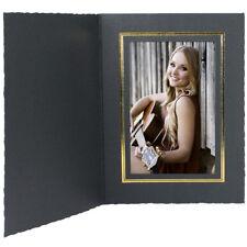 Cardboard Photo Folders 8x10 Black w/Gold Vert 25 Pack (Same Shipping Any Qty)