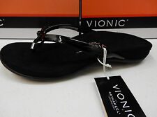 VIONIC W/ ORTHAHEEL TECHNOLOGY WOMENS SANDALS BELLA II BLACK SIZE 8 WIDE