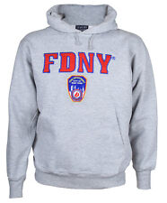 FDNY Embroidered Ash Hooded Sweatshirt Adult Small