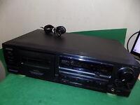 AIWA AD-F450K Black Stereo Cassette Deck Vintage Tape Unit Dolby HX Pro FAULTY