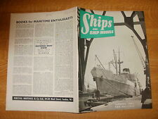 January 1956, SHIPS & SHIP MODELS, Port Auckland, Santa Maria, La Orilla, Elmes.