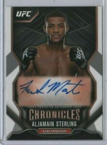 ALJAMAIN STERLING 2015 Topps UFC Chronicles ROOKIE Auto