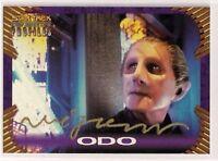 Star Trek Signed Card Auto DS9 Profiles Odo Rene Auberjonois v54
