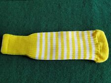 New knitted zebra style Fairway & Driver club head cover Yellow / White