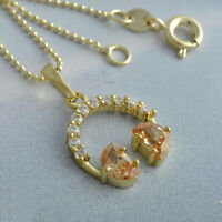 Attractive Real Gold Plated crystal Long Chain Pendant+Necklace 4 Colour Choice