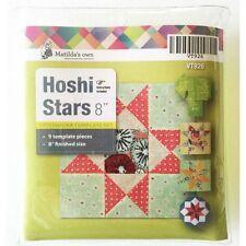 "Matildas Own Hoshi (Star) Template Set Lemoyne, Ohio & Evening Star 8"" Blocks"