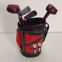 Vintage Japan Made Golf Bag Club Barware Set Sifter Stirrer Opener Measure
