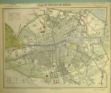 1881 LETTS MAP CITY OF DUBLIN PLAN LUNATIC ASYLUM RAILWAY DOCKS HOSPITAL