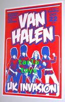VAN HALEN - London, Uk - 22 october 1978 -  concert poster