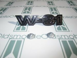 "1970 Olds Cutlass 442 ""W31"" Chrome Front Fender Emblem with Hardware"