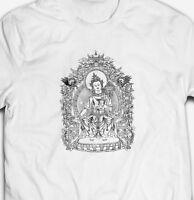 RETRO VINTAGE BUDDHA DEITY SHAOLIN KUNG-FU RETRO 100%cotton Mens T-shirt TEE
