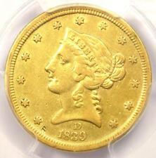 1839-D Liberty Gold Half Eagle $5 Dahlonega Coin - PCGS Genuine - XF / AU Detail