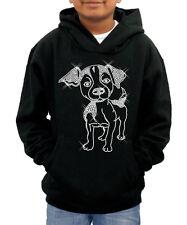 CHRISTMAS Personalised name Dog No2 Hoodie diamante sweatshirt -ideal present !