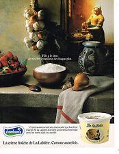 PUBLICITE ADVERTISING 035  1986  CHAMBOURCY   la creme fraiche de la LAITIERE