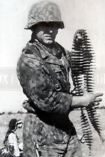 German Elite soldier Waffen SS Grenadier ammo photo photograph 4x6