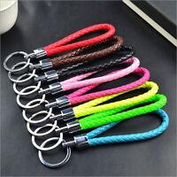 New Fashion Men Women Leather Key Chain Ring Keyfob Car Keyring Keychain Gift