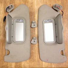 2004-2008 Chrysler Pacifica Lighted Mirror  Sun Visor Set (tan / taupe)  - OEM