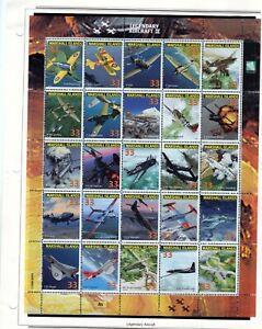 2000 Marshall Islands; Legendary Aircraft II Sheet 25 stamps MNH