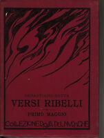 Sebastiano Satta versi ribelli primo maggio collezione del Nuraghe 1925 Sardegna