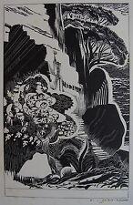 SCHMIED FRANÇOIS-LOUIS (1873-1941) : Planche originale gravée sur bois pour ser