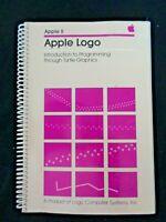 Vintage Apple Programing Manual Logo Writer Turtle Graphics Language Logic 1982