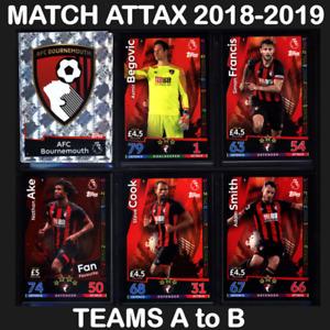 MATCH ATTAX 2018/2019 (TEAMS A to B) 18/19 *Please Select* 2018/19
