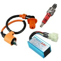 Racing Ignition Coil+Spark Plug+CDI Box For GY6 50cc 150cc 4 Stroke P2Y6