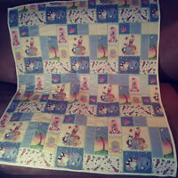 Many different animals baby quilt 38 X 42 handmade Pinkldy cottage