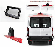 "7"" Monitor & Backup 3rd Brake Light Camera System KIT For Ford Transit 2014+ VAN"