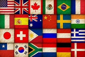 5ft X 3ft World Flags National Country Flag Rugby Football World Cup - Large