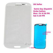 Samsung Galaxy S3 III i9300 i9305 Cristal Exterior Frontal Pantalla de Recambio S3 Blanco