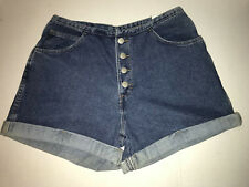 NWT, GITANO BUTTON FRONT HIGH WAIST JEANS SHORTS, SIZE 12
